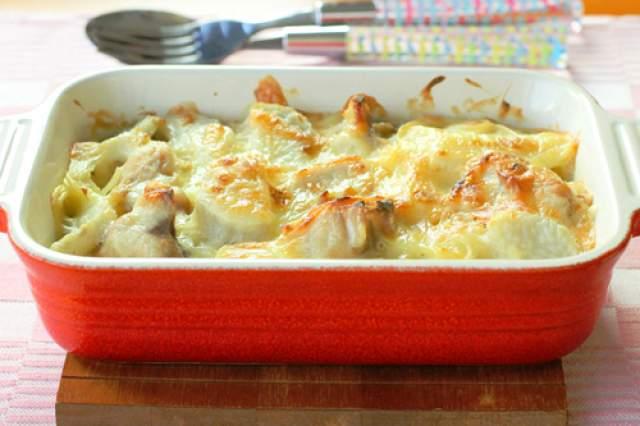鶏肉と里芋のグラタン