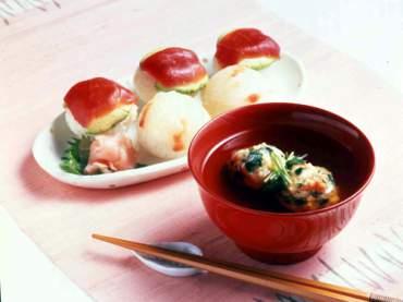 子供の日用 えび団子汁と手まり寿司