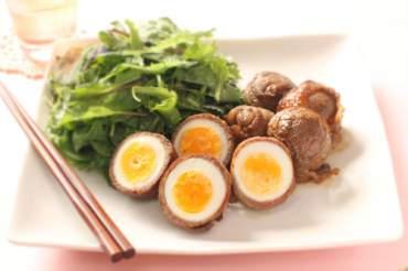 ゆで卵の肉巻き