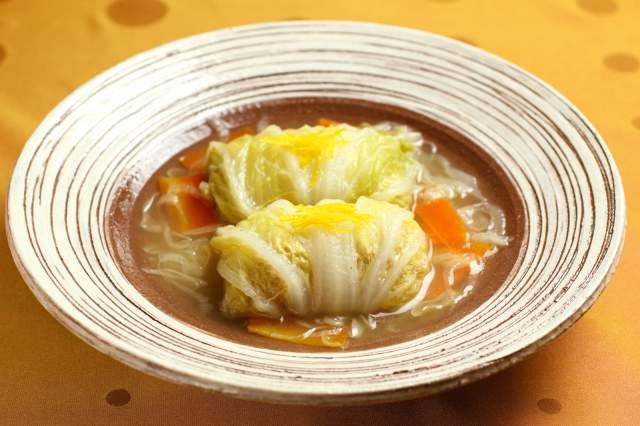 白菜のロール煮