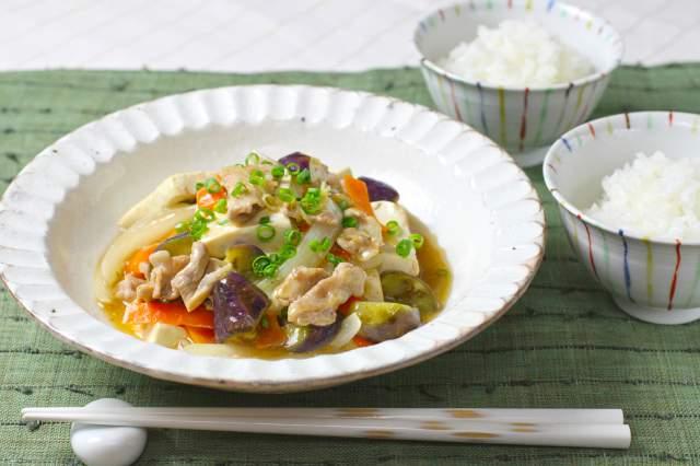 豆腐と豚肉の煮物