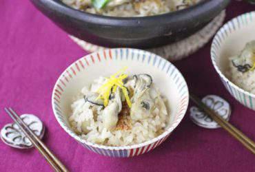 土鍋で牡蠣ご飯