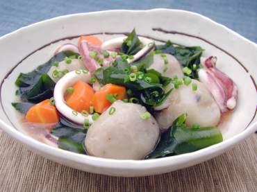 イカと里芋のこんぶ風味のあっさり煮