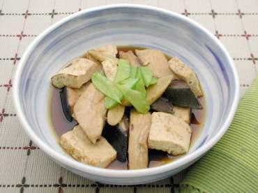 ぶりと焼き豆腐の照り煮