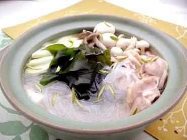 ゆず風味の鶏スープ鍋