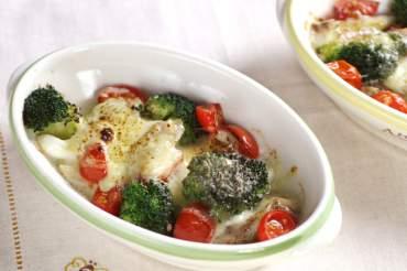鯛と野菜のチーズ焼き