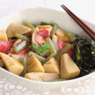 鯛と春野菜の煮物