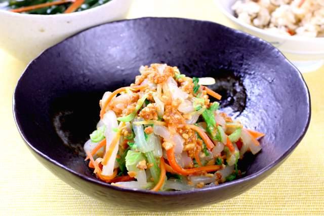 白菜の落花生和え(宮城県)