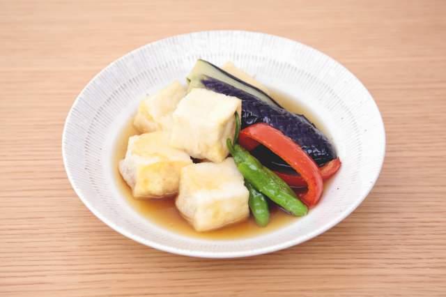 豆腐と野菜の揚げ浸し