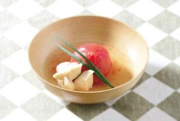 トマトとささみのスープ煮