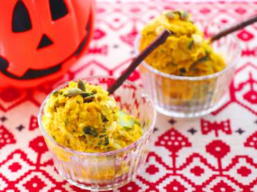 かぼちゃと卵のサラダ