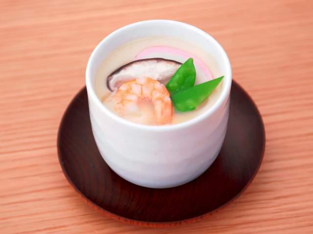 海老の茶碗蒸し(合わせだし)