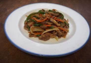 豚肉と野菜の梅生姜焼き