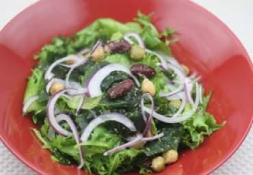 【減塩】わかめと豆のごまサラダ