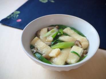 九条ねぎとお揚げのスープ仕立て