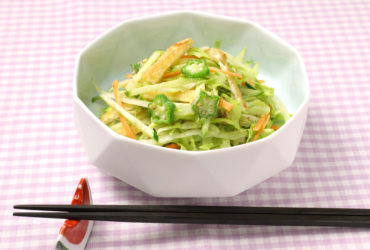 夏野菜と焼き油揚げの酢の物