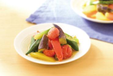 彩り旬野菜の煮浸し